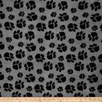 Fleece Paw Print Grey