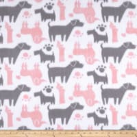 Fleece Dog Silhouettes Pink
