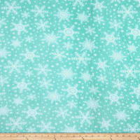 Fleece Snowflakes Aqua