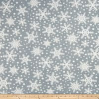 Fleece Snowflakes Grey