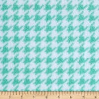 Fleece Houndstooth Aqua
