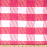 Fleece Gingham Plaid Pink