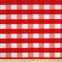 Fleece Gingham Plaid Red