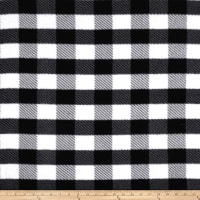 Fleece Gingham Plaid Black