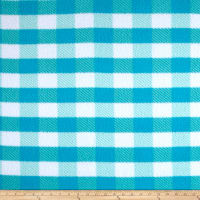 Fleece Gingham Plaid Aqua