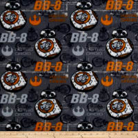 Fleece Star Wars VII - BB8 - Fleece Grey