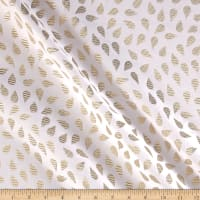 Metallic Textured Brocade White/Gold