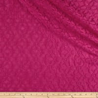 Italian Embroidered Voile Floral Fuchsia