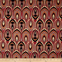 Italian Couture Stretch Cotton Sateen Fleur Rust