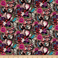 Dolce & Gabbana Digital Geisha Viscose Challis Purple/Blue/Green