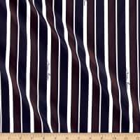 Nina Ricci Signature Stripe Silk Navy/Brown/White