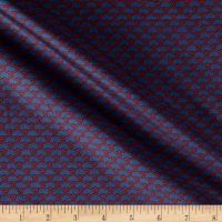 Italian Couture Sateen Knots Blue/Red
