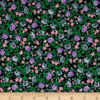 Italian Couture Stretch Viscose Jersey Knit Digital Print Floral Green