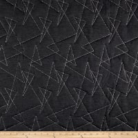 Mod Quilted Upholstery Obsidian