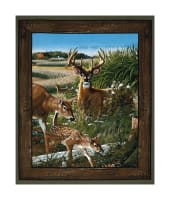 "Wild Wings Feast In The Valley Deer Wall 36"" Panel Multi"