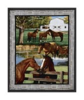 "Wild Wings Summer Breeze Horse Wall 36"" Panel Multi"