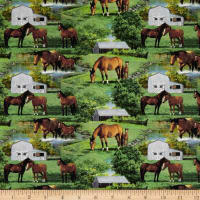 Wild Wings Summer Breeze Horse Scenic Multi