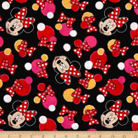 Disney Minnie Traditional Minnie Dots Black