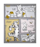 Disney Pooh Nursery Eat Play Giggle Sleep Panel Multi