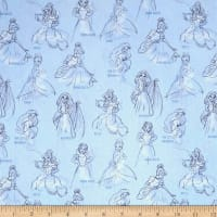 Disney Princess Fashion Princess Allover Blue