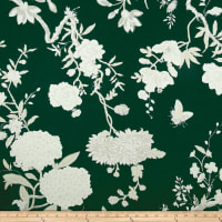 Ralph Lauren Home Tea House Twill Floral Racing Green