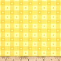Penny Rose Mae Flowers Plaid Yellow