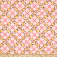 Penny Rose Mae Flowers Trellis Pink