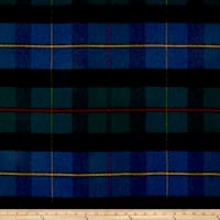 Ralph Lauren Home Coach Road Tartan Melton Wool Mallard