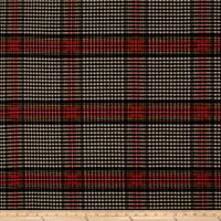 Ralph Lauren Home LCF68183F Collins Tartan Melton Wool Ancient Black