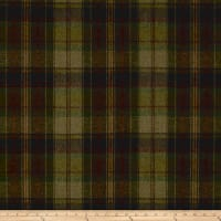 Ralph Lauren Home LCF68180F Eliott Plaid Melton Wool Olive