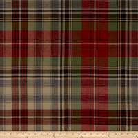 Ralph Lauren Home LCF68168F Glasgow Tartan Wool Twill Sateen Vintage Red