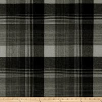 Ralph Lauren Home Market Street Plaid Melton Wool Basalt