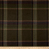 Ralph Lauren Home LCF68185F Sommerset Plaid Melton Wool Blend Coating Loden