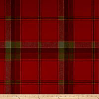 Ralph Lauren Home LCF68173F Yealand Plaid Melton Wool Currant