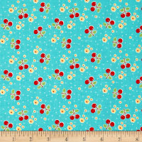 Riley Blake Bake Sale 2 Cherry Aqua
