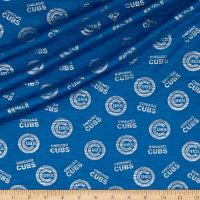 MLB Chicago Cubs Jersey Knit Silver/Blue