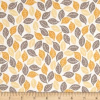 Riley Blake Sweet Prairie Leaves Yellow