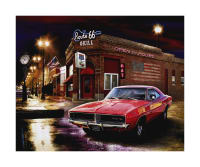 "Riley Blake 1969 Dodge Charger 36""Panel Multi"
