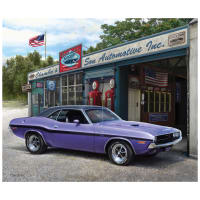 "Riley Blake 1970 Dodge Challenger 36""Panel Multi"