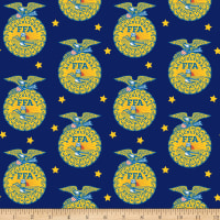 Riley Blake FFA Emblem Blue