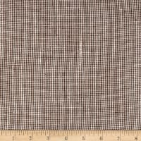 100% European Linen Houndstooth Brick