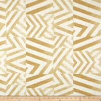 100% European Linen Abstract Gold
