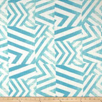 100% European Linen Abstract Blue