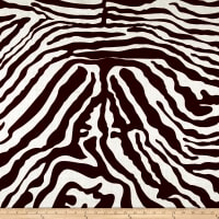 100% European Linen Zebra Brown