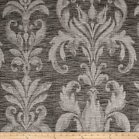 European Linen Blend Damask Sheer Black