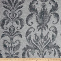 European Linen Blend Damask Sheer Indigo