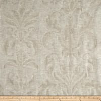 European Linen Blend Damask Sheer Natural