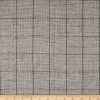100% European Linen Plaid White/Black