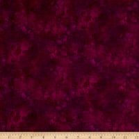 Timeless Treasures Solid-ish Watercolor Texture Wine