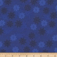 Timeless Treasures Bohemian Blues Small Snowflakes Sea